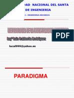 Clase 2 Paradigma Idea Realidad Investigacion