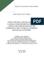 Juro-lhe Pela Honra de Bom Vassalo e Bom Português_ as Cartas de José Bonifácio de Andrada e Silva