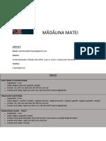 Matei Madalina CV RO