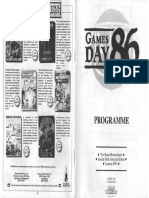 Games Day 86 Programme