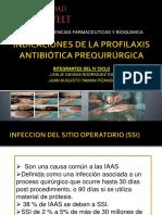 Indicaciones de La Profilaxis Antibiótica Prequirúrgica