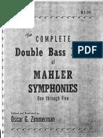 Oscar Zimmerman Double Bass Mahler Symphonies