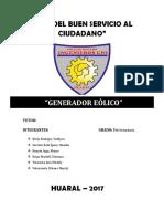 PROYECTO GENERADOR EOLICO