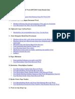 Daftar Isi Belajar Microsoft Word 2007