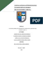 Informe Del Tanque Evapor