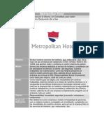 Metropolitan Hotel (ejemplo de creación de un proyecto con normas ISO)