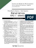 Fgv 2013 Inea Rj Estatistico Prova