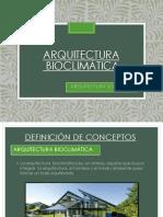 ARQUITECTURA BIOCLIATICA