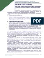 12. Especificaciones T. Trocha Incahuasi