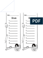 Formato Para Dictados