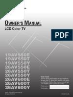 19av550y Manual