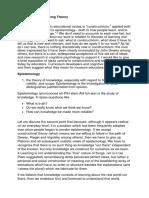 Constructivist Learning Theory(Ness)