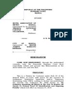 Sample Work Memorandum