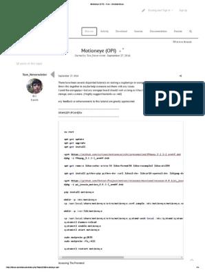 Motioneye (OPI) - Free - Armbian Forum | Internet Forum