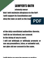 Lawyers Oath