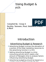 8605328 Advertising Budget Research
