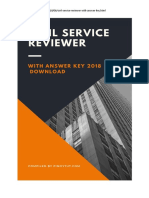 Civil Service Exam Reviewer With Answer 2018 - Pinoytut