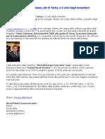 La Scalata Di Flavio Cattaneo e Il Voto Degli Investitori