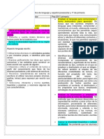 Cuadro Comparativo de Lenguaje y Español Preescolar y 1ª de Primaria