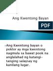 Ang Kwentong Bayan  Powerpoint Presentation