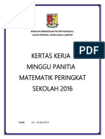 Kertas Kerja Minggu Panitia Matematik 2016