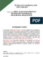 Norma Técnica Ecuatoriana Nte Inen 2266