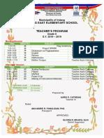 Class Program AURIS 2018 2019