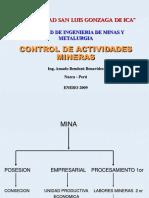 Control de Actividades Mineras 1