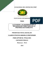 La evasión y su incidencia en la recaudación tributaria Tesis
