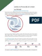 Cartas y Declaraciones de La Promociòn de La Salud Pùblica