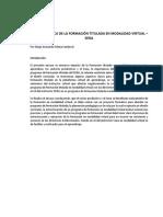 Impacto de La Formación Titulada en Modalidad Virtual en Los Aprendices