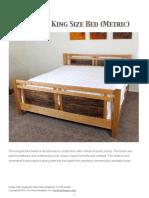 TWW King Size Bed Metric
