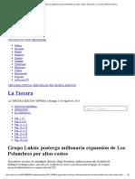Grupo Luksic Posterga Millonaria Expansión de Los Pelambres Por Altos Costos _ Negocios _ La Tercera Edición Impresa