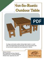 Tww Rustic Outdoor Table