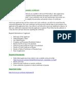 Community Certificate Details