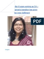Teacher!! after 8 years working as CA - Monika Agarwal's transition has given her inner fulfillment