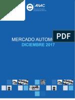 12 ANAC Mercado Automotor Diciembre 2017
