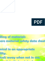 Precautionary Measures in Handling Materials