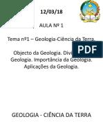 1. Objecto Da Geologia