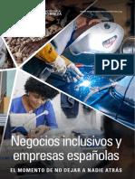 Informe Negocios Inclusivo y Empresa El Momento de No Dejar a Nadie Atras