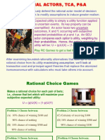 Rational Actors, Tca, p&A
