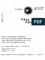 Effect of Specimen Thickness