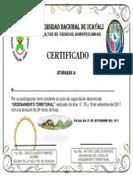 CERTIFICADO DE O.T.