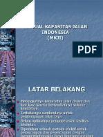 MANUAL KAPASITAS JALAN INDONESIA_Jalan Perkotaan.ppt