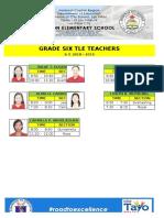 Teachers Schedule in Tle