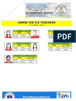 Teachers Schedule in Tle