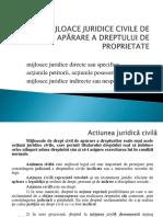 Curs 8 Mijloace Juridice Civile de Apărare a Dreptului De
