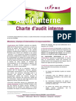 Charte Audit Interne Ifapme