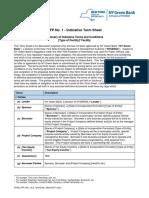 RFP1 Indicative Term Sheet