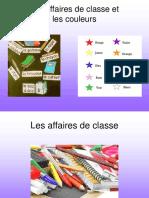 E1-Les affaires de Classe et les couleurs